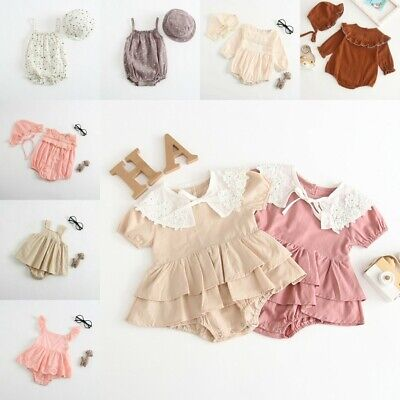 Newborn Toddler Baby Girls Clothes Lace Summer Romper Jumpsuit Bodysuit Outfits