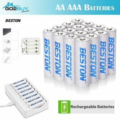 Beston Rechargeable Batteries NiMH AA AAA USB Charger 1.2V 3000mAh High Capacity