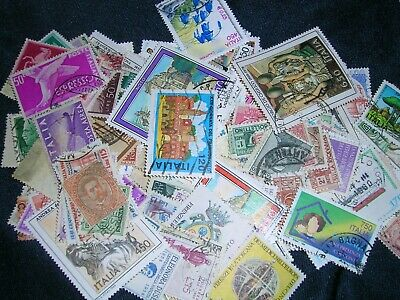 postage stamps italy  over 100 in great cond