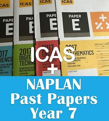 Year 7 ICAS + Naplan Year 7 past papers with answers