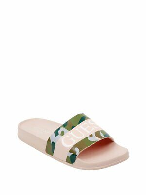 5e0f04a4a4f4 GUESS FACTORY WOMEN S Zoey Graffiti Slide Sandals -  18.74