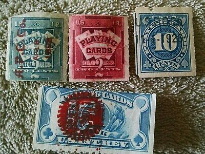 U.S.I.R. United States Internal Revenue Stamp - Playing Cards - Group Of 4