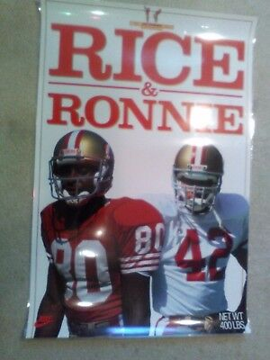 d69f4136 NFL JERRY RICE RONNIE LOTT SAN FRANCISCO 49ers POSTER Costacos Bros. 24x36
