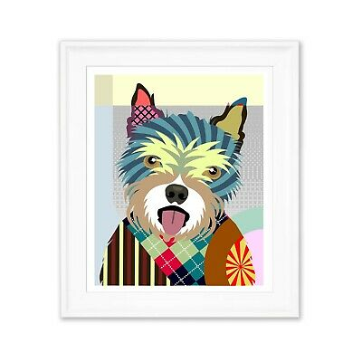 Art Norwich Terrier Dog Poster Pet Animal Lover Print Puppy Portrait Painting