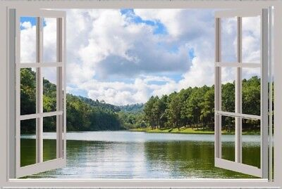 Forest Nature Outdoors Effect Window 3D print window decor home room