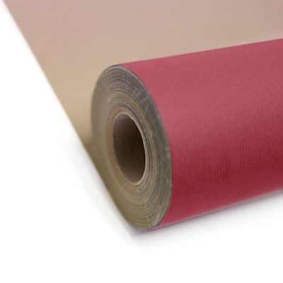 Red Kraft Roll Wrapping Paper 55gsm projects shops 200m x 550mm gift craft
