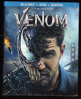 Venom Blu Ray / Dvd / Digital Target Exclusive Book Brand New Tom Hardy