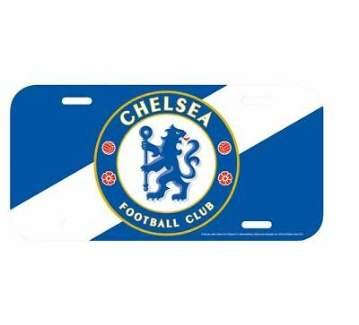 "Chelsea FC 2019 Official Licensed 6.25"" x 12.25"" Soccer License Plate Brand New"