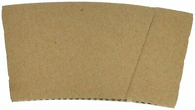 Hot Cup Sleeves (Cup Jackets) for 8oz Paper Coffee Cups, 50 Count Coffee Cup...