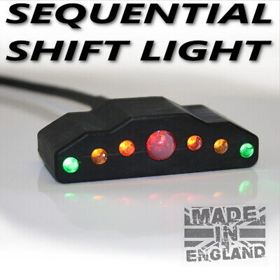 Sequential Shift light. Dash Mounted Sequential Gear Shift Light.Track Race UK