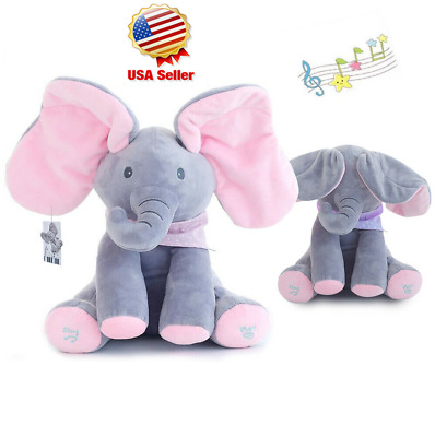 Flappy Ear The Elephant Peek-a-boo Interactive Sing and Play Plush Toy for Baby