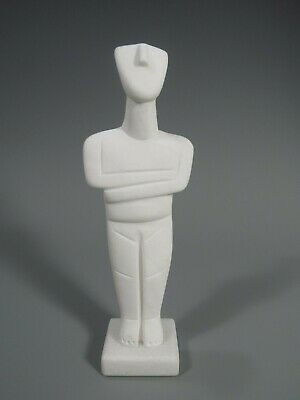 Cycladic Nude Female Figurine Idol Greek Modern Art Statue Sculpture Museum Copy