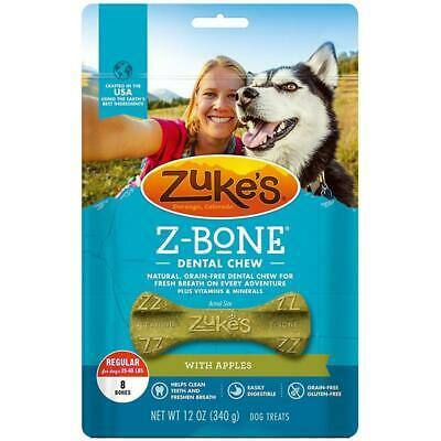 NEW Zuke's Z-Bone Dental Chew with Apple (Med or Lg) Fresh Breath Clean Teeth