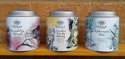 Whittard - Alice In Wonderland - Selection Of Teas In Tins.