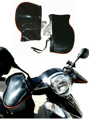 Black Motorcycle Handle Bar Mitts Hand Warmer Motorbike Bar Muffs Gloves