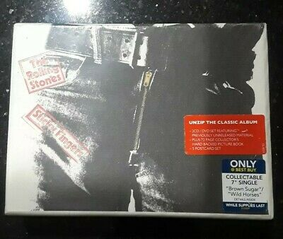 The Rolling Stones Sticky Fingers 2CD / DVD Set With Picture Book & 5 Postcards