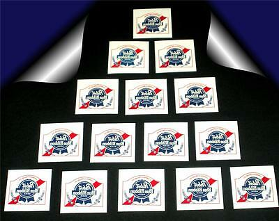 20 Pabst Blue Ribbon Beer Temporary Tattoos Retro Vintage Party Favors Washable