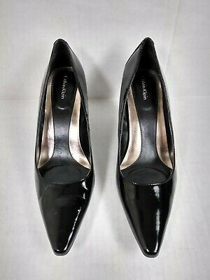ae7dffa5b7b1 Women s Calvin Klein High Heels Size 8M Pointed Black Color.065