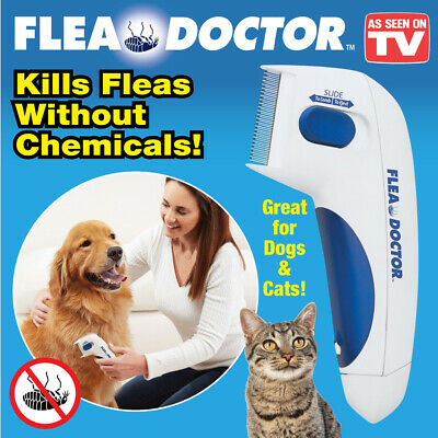 Flea Doctor Electric Flea Comb As Seen On TV - Great for Dogs & Cats! New!