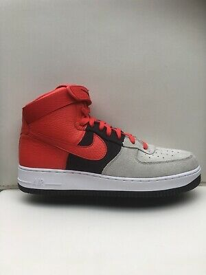 new product 9c858 b35e3 Nike Air Force 1 High  07 LV8 Wolf Grey Red Black 806403-007 New