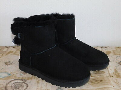 c3fc91d133a UGG WOMEN'S MINI Bailey Bow II 2 Black Suede New With Box! - $124.95 ...
