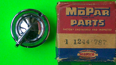 1949 Plymouth DeSoto NOS Light Knob OEM MoPaR Chrysler part # 1244787 chrome