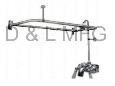 Clawfoot Tub Add A Shower With Cp Brass D Rod And Faucet Wporcelain