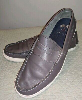 9274caa39e0 Cole Haan gray leather penny loafers moccasins driving mocs mens 11 m casual