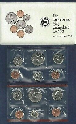 1992 P+D U.S. Mint Uncirculated Set 10 coins  Original Mint Packaging & Envelope
