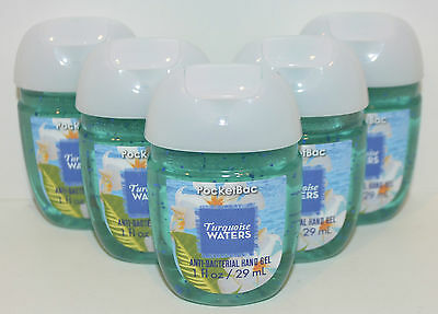 5 Bath&Body Works Turquesa Aguas Anti Antibacterias Gel de Manos Desinfectante