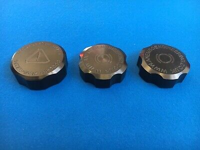 Ford Focus RS / ST Mk2 CNC Machined Billet Tank Cap Cover Set of 3 anodised blk