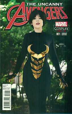 Uncanny Avengers #1 Deadpool Rogue 1:15 Wasp Cosplay Photo Variant B NM/M 2015