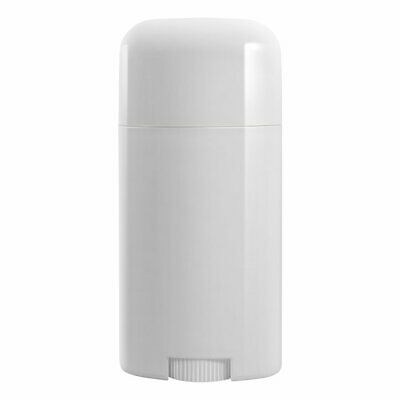 TOPWEL 10PCS 15ML Deodorant Containers White Empty Plastic