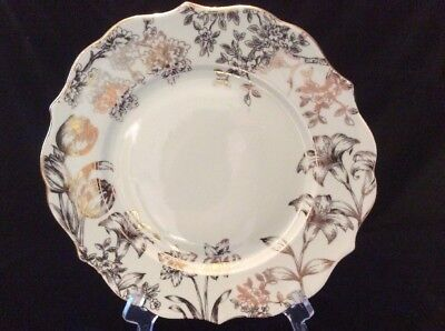 222 Fifth Bunny Hill Dinner Plate Gold & Light Green ~FREE SHIPPING