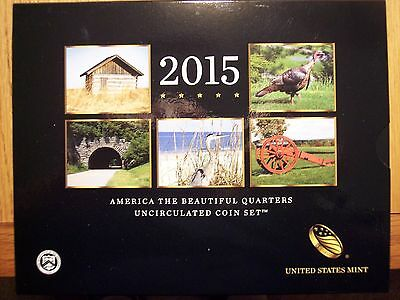 2015 P&D Uncirculated America The Beautiful National Park Quarters 10 Coin Set