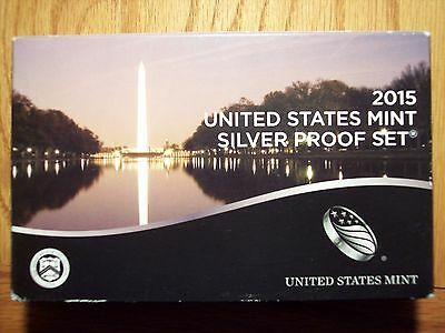 LOWEST MINT SINCE 1954 2015 US Mint Coin Silver Proof Set  Box never opened 012