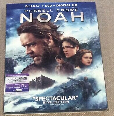 Noah (Blu-ray + DVD 2014, 2-Disc Set ) with slipcover in Like New Condition.