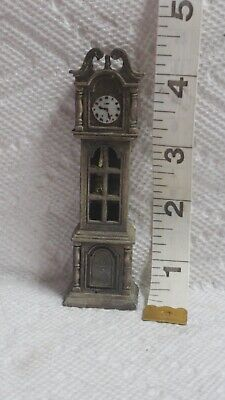 Vintage Cast Iron Miniature Grandfather Clock Pencil Sharpener
