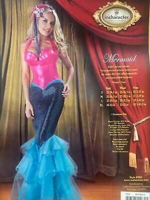 9c5b654530 Sexy Mermaid in Character Adult Womens Costume Size  Large   NEW