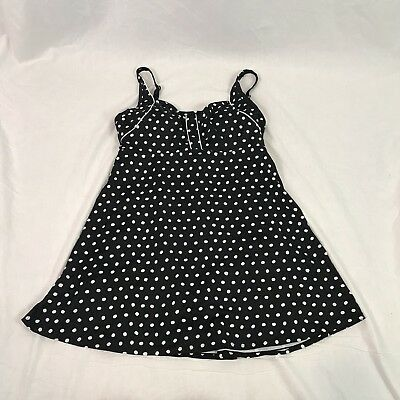 e1b1a4ee6c7 Roamans Swim Swimsuits for All PLUS SIZE Swim Dress Retro Polka Dot 16W
