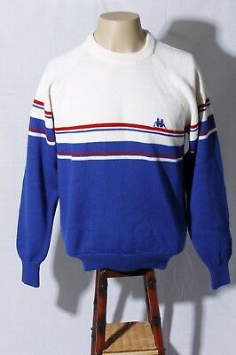 128cdfd7 Vtg Kappa Sport Made in Italy Men's Blue White Red Wool Sweatshirt Sweater L