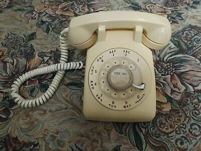 BELL SYSTEM by Western Electric 1954 yellow Desktop Rotary Dial Telephone works