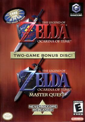 The Legend of Zelda: Ocarina of Time / Master Quest - GameCube Game *Tested