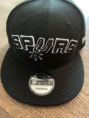6cd168e02f718 👀New Era San Antonio Spurs Snapback Hat Adjustable Cap 9Fifty Black 👀