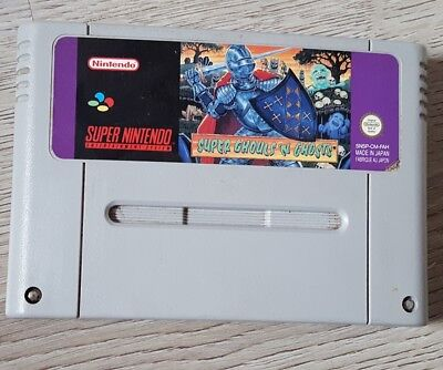 Super Nintendo SNES Super Ghouls N Ghosts original cartridge! NO REPRO PAL