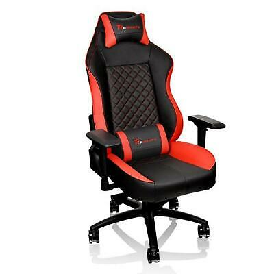 Thermaltake Ergonomic Gaming Computer Chair GT Comfort Red-Black Faux Leather
