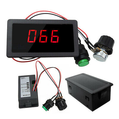 DC 6V 12V 24V Max 8A Motor PWM Speed Controller With Digital Display & Switch UK