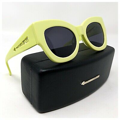 5eff804bab9d Karen Walker Northern Lights RARE Pastel Green Laser Cut Cat Eye Sunglasses  EUC