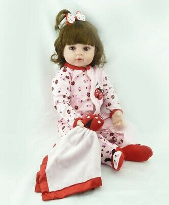24 inch Reborn Toddler Dolls 60cm Reborn Silicone Vinyl Girl Dolls Toddler Model