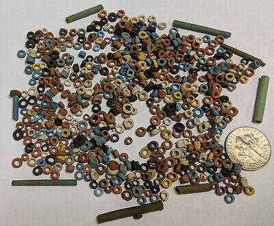 More than FIVE HUNDRED 2500 Year old Ancient Egyptian Faience Mummy Beads (K5340